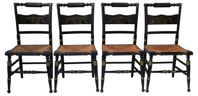 Hitchcock-Style Chairs, S/4