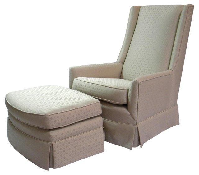 High-Back   Chair & Ottoman