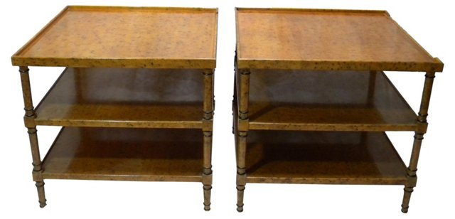 Trouvailles Inc. Side Tables, Pair