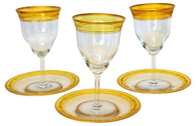 Goblet & Dessert Sets, Svc. for 3