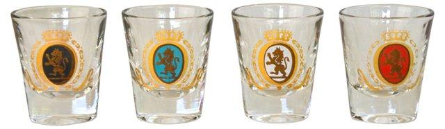 Crest Shot Glasses, Set of 4