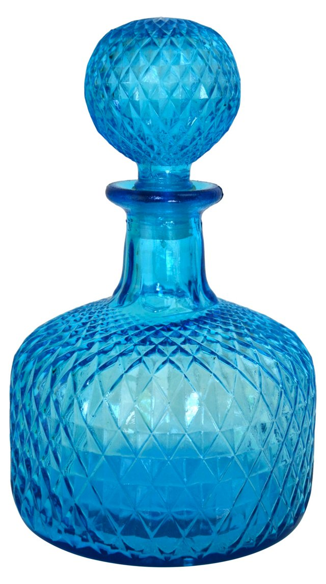 Quilted Turquoise Decanter
