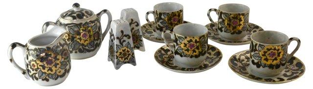 Golden Tea Set, Svc. for 4