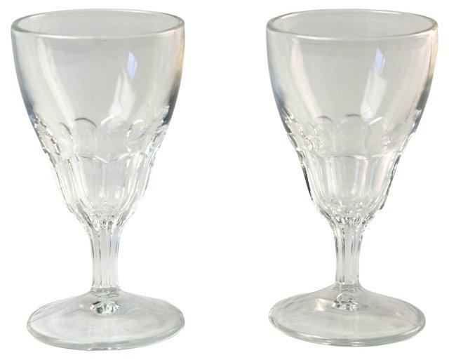 Cut-Glass Cordials, Pair