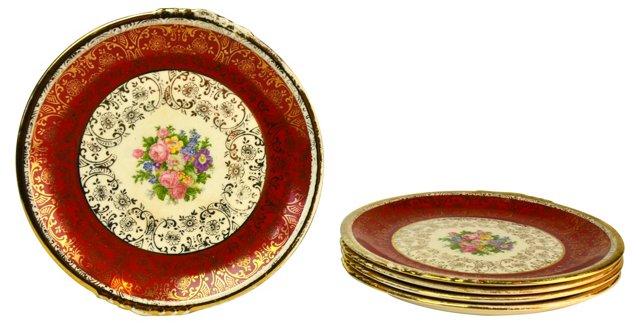 Filigree Dessert Plates, S/5