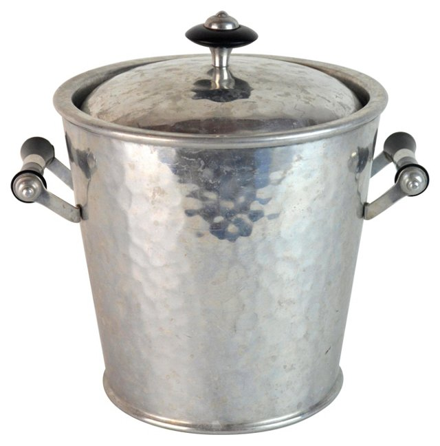 Spanish Hammered Aluminum Ice Bucket
