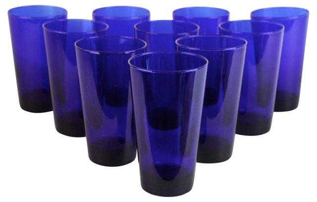 Cobalt Cocktail Glasses, S/10