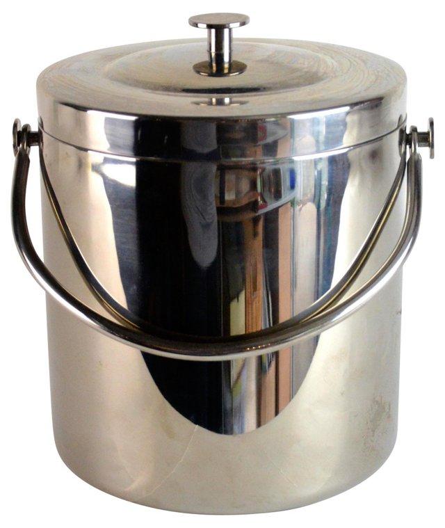 Midcentury Chrome Ice Bucket