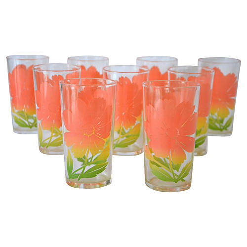 Flower Tumblers, S/9