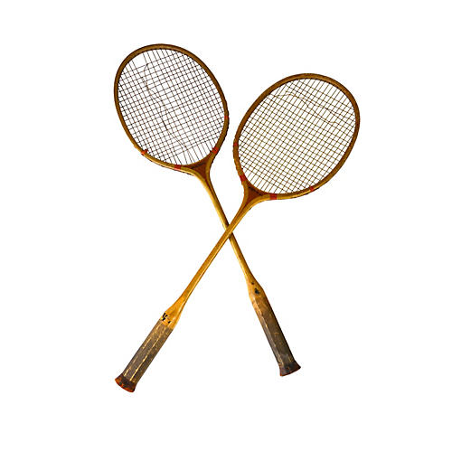 Early Badminton Racquets, Pair