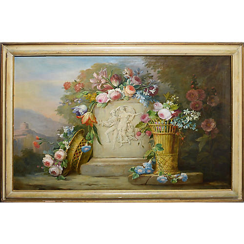 Large Classical Flower Still Life