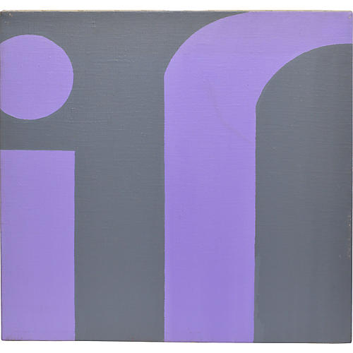 Abstract In Purple and Grey