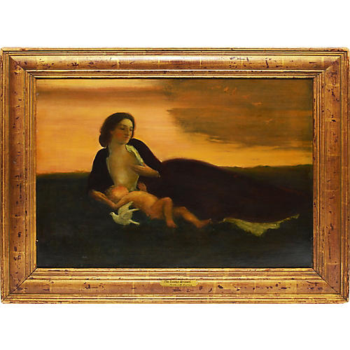 Mother and Baby at Sunset, Arthur Davies
