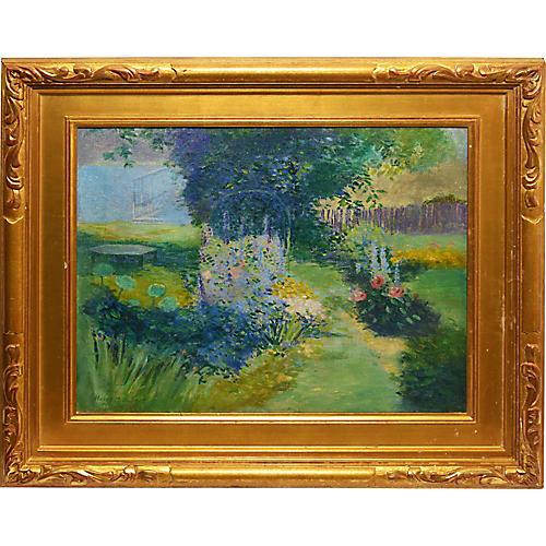 Impressionist Flower Garden Landscape