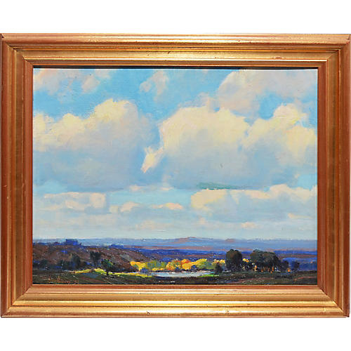 Panoramic Landscape w/ Cloud Study