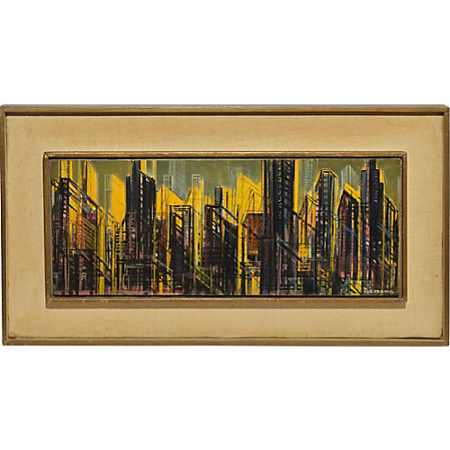 Midcentury Modern Abstract Cityscape