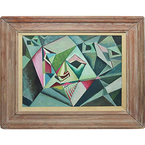 Vintage American Cubist Abstraction
