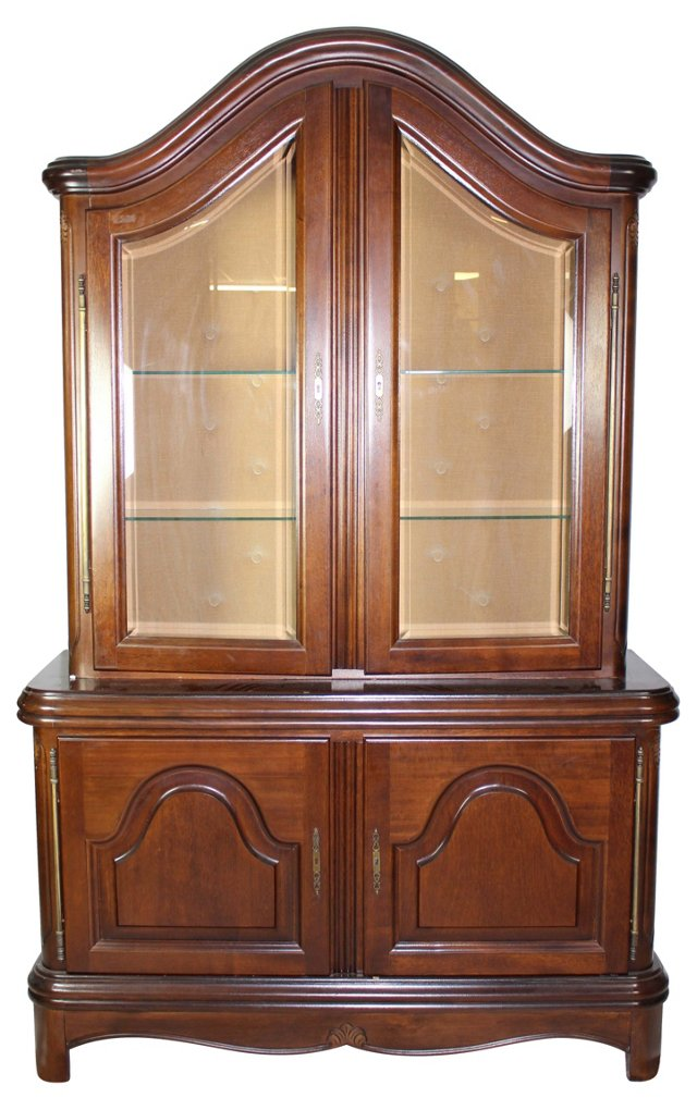 China Cabinet w/ Double Glass Doors