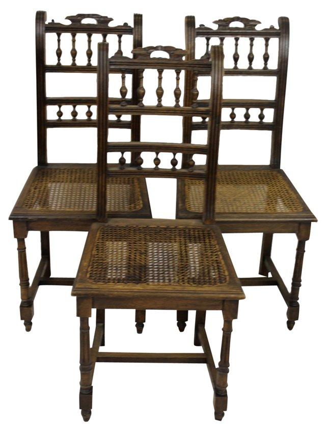 Henri II-Style Chairs, S/3