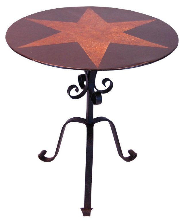 Iron Table Base w/ Tole Top