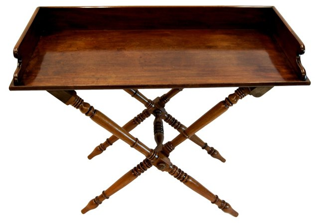 19th-C. English Butler's Tray Table