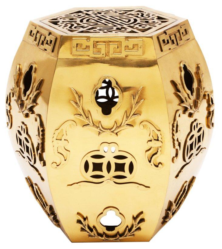 1930s Chinese Brass Stool
