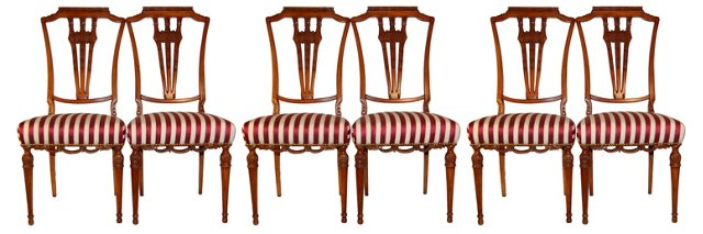 1880s French Dining   Chairs, Set of  6