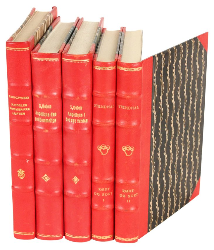 Designer Leather  Books, Set of 5