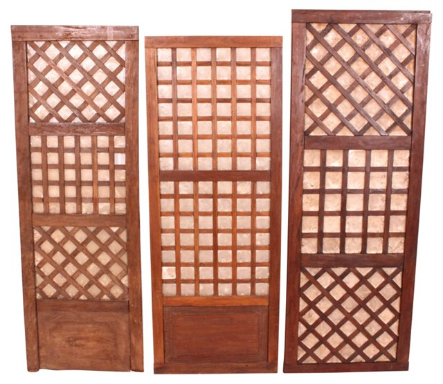 Japanese  Mother-of-Pearl Doors, S/3
