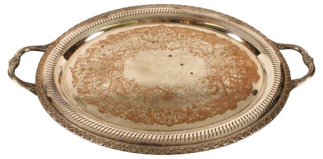 WM Rogers Oval Platter w/ Handles