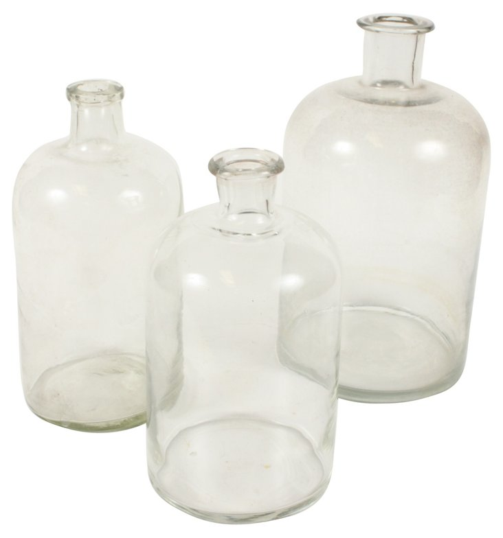 French Apothecary Jars, S/3