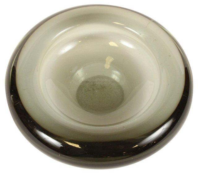 Holmegaard Smoky Art Glass Dish
