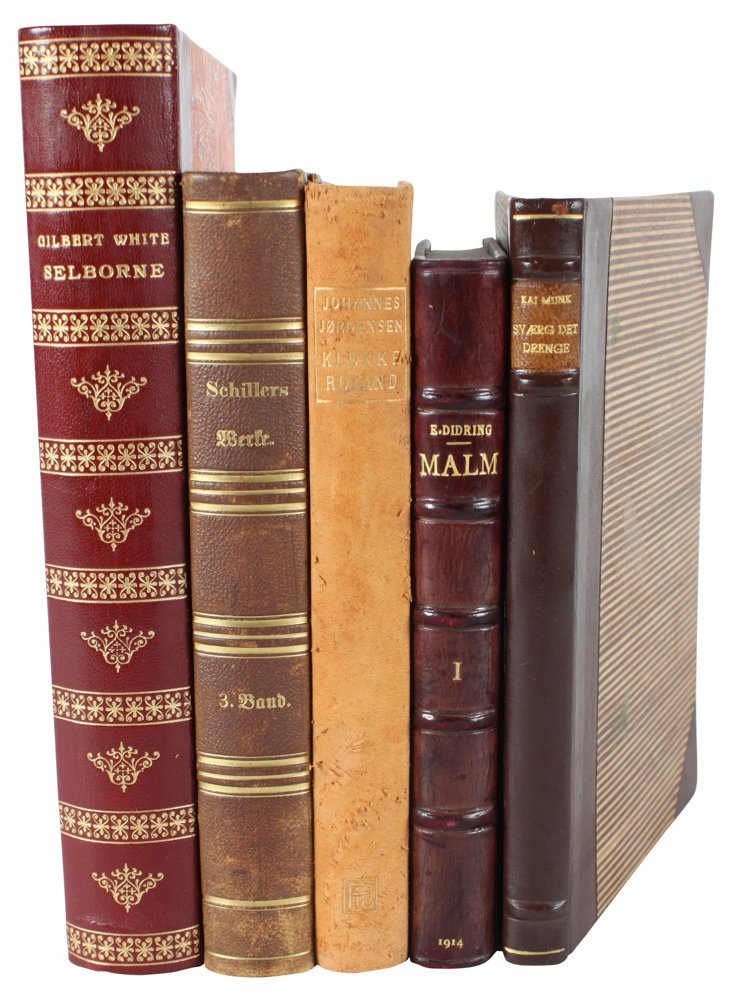 Select Leather-Bound Books, S/5