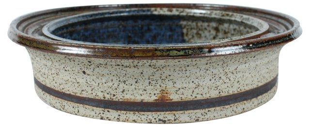 Mid-Century Modern Stoneware Bowl