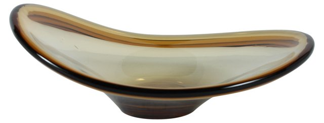 Art Glass Bowl, Brown