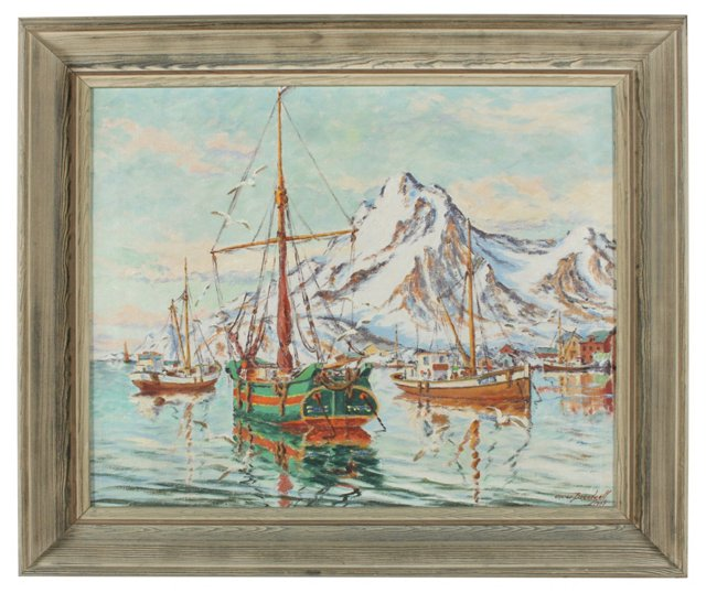 Swedish Harbor by Oscar Brentzell