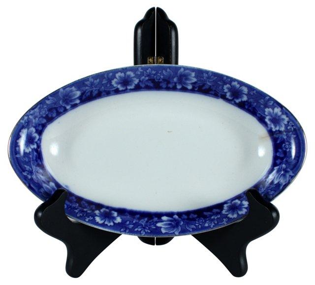 JB Flow Blue Turin Relish Dish