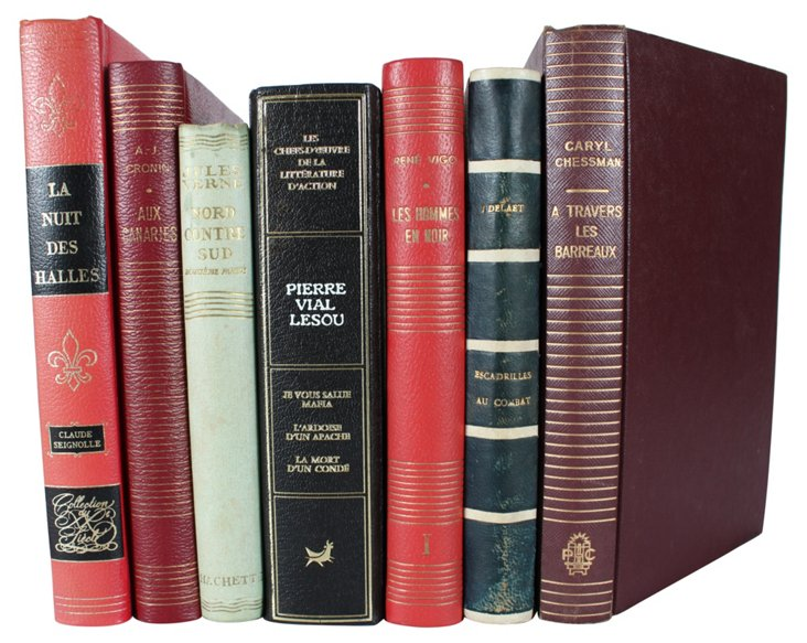 Decorative French Hardcovers, S/7