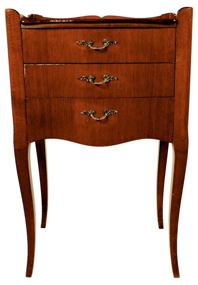 French  3-Drawer  Side   Table