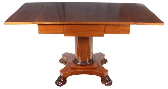 1940s Drop-Leaf Mahogany Table