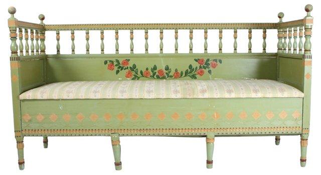 Gustavian Hand-Painted  Sofa
