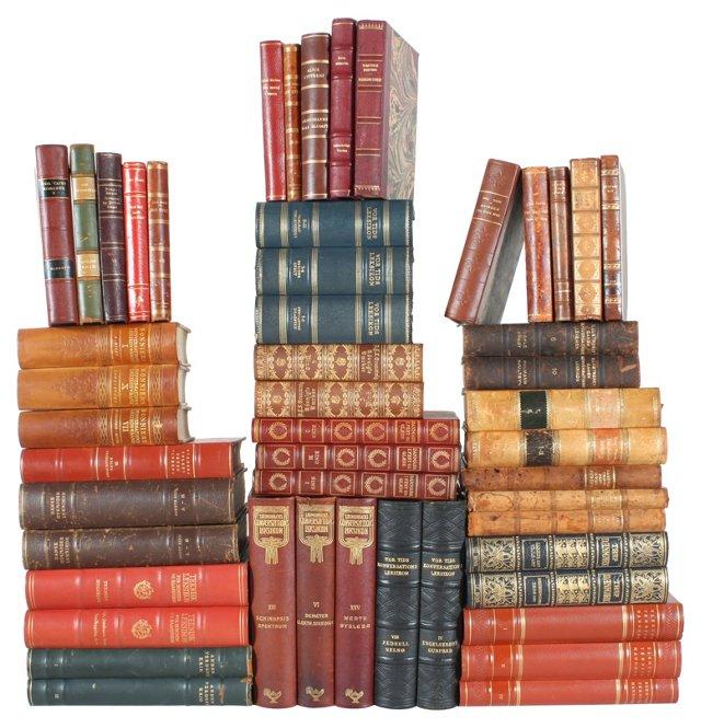 Designer     Leather    Books, S/50