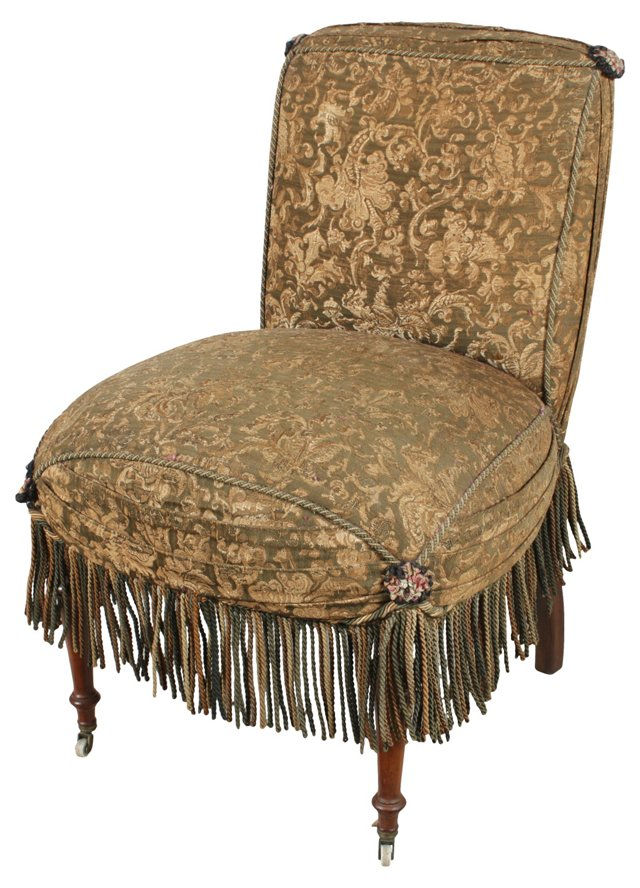 Early-20th-C. Slipper Chair