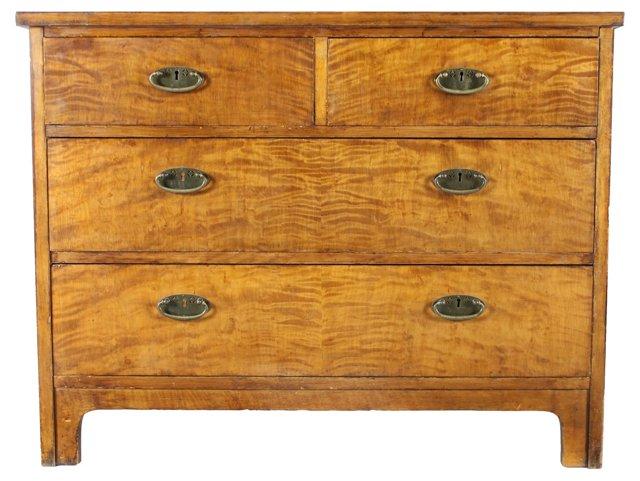 1940s Swedish Satinwood Dresser