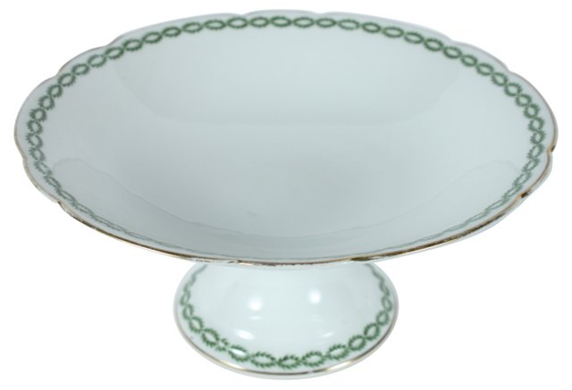 French Limoges Footed Fruit Bowl