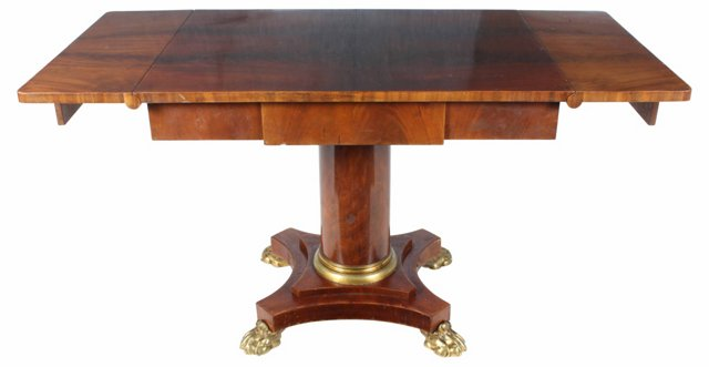 English Matched Mahogany Drop-Leaf Table