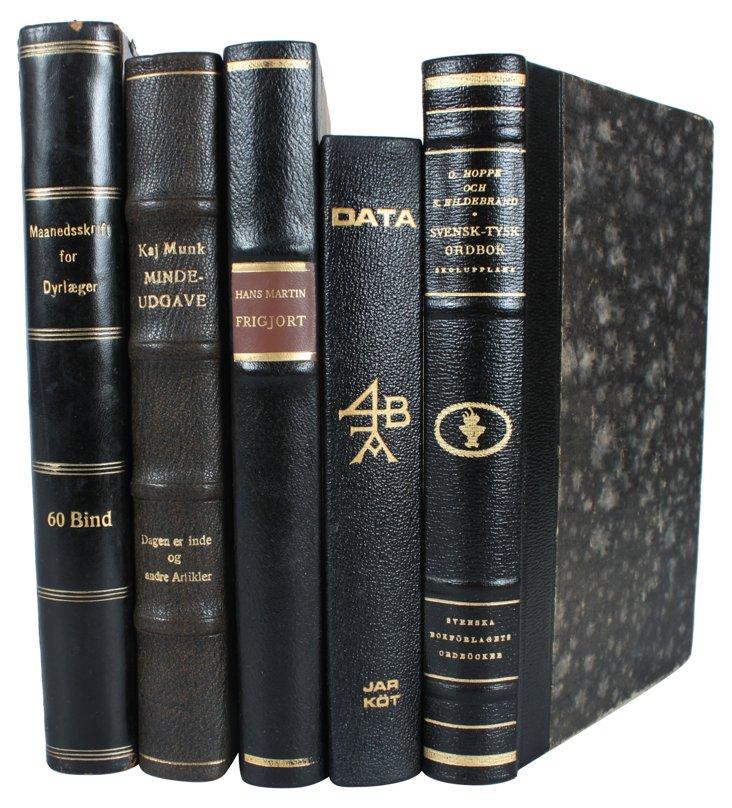 Decorative   Leather     Books, S/5