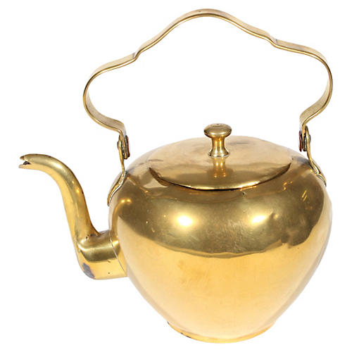 Swedish Brass Teapot