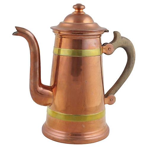 Copper & Brass Coffee Pot