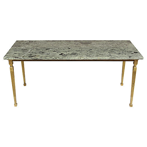 Neoclassical-Style Marble Coffee Table